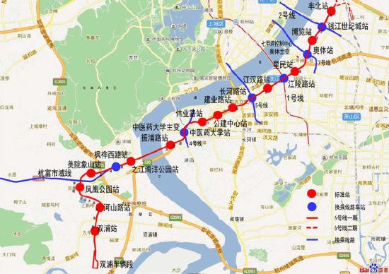 『杭州』地铁6号线环评公示 2018年底建成试运营图片
